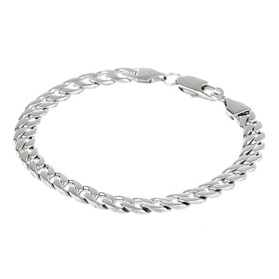 "Mens Stainless Steel 8½"" 5mm Curb Bracelet"