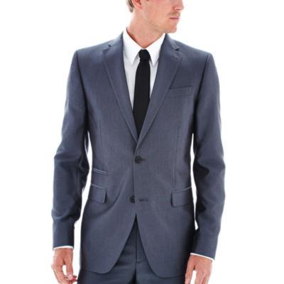 JF J. Ferrar® Gray Luster Herringbone Suit Jacket - Slim Fit
