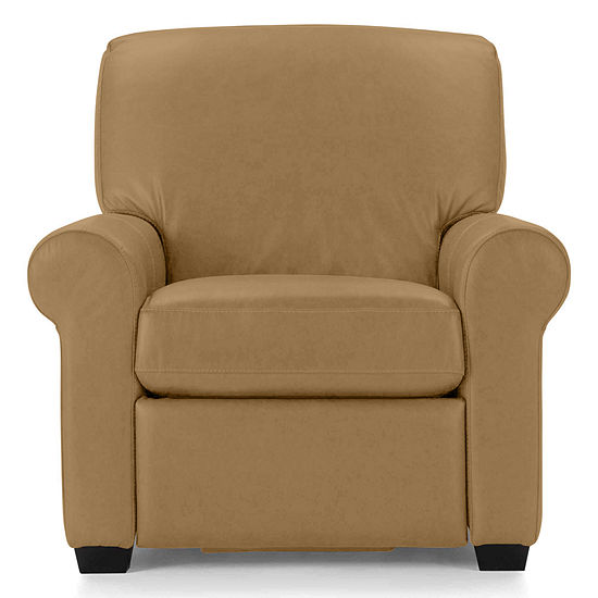 Leather Possibilities Roll-Arm Recliner