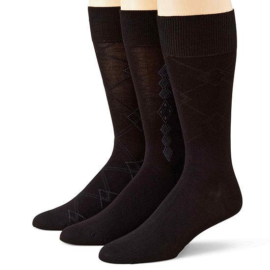 Stafford® 3-pk. Mens Rayon from Bamboo Crew Socks