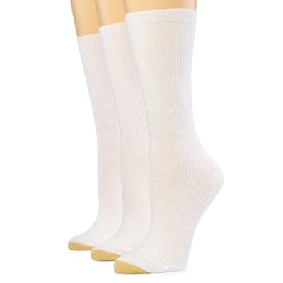 GoldToe® 3-pk. Non-Binding Crew Socks- Women's