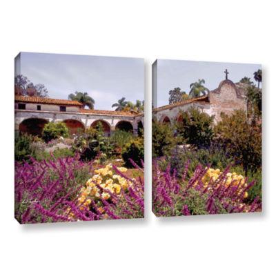Brushstone Gardens of Mission San Juan Capistrano2-pc. Gallery Wrapped Canvas Set
