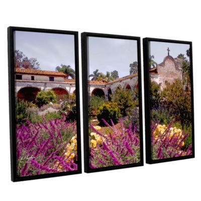 Brushstone Gardens of Mission San Juan Capistrano3-pc. Floater Framed Canvas Set
