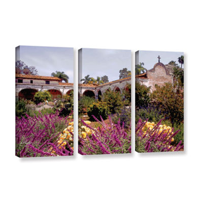 Brushstone Gardens of Mission San Juan Capistrano3-pc. Gallery Wrapped Canvas Set