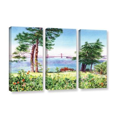Brushstone Golden Gate Bridge 1 3-pc. Gallery Wrapped Canvas Set