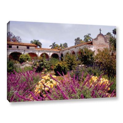 Brushstone Gardens of Mission San Juan CapistranoGallery Wrapped Canvas