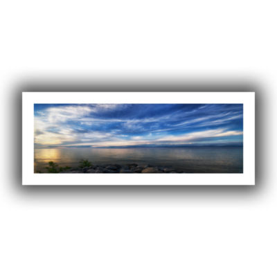 Brushstone Glowing Lakeview Canvas Wall Art