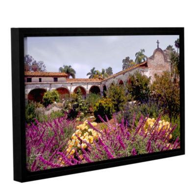 Brushstone Gardens of Mission San Juan CapistranoGallery Wrapped Floater-Framed Canvas