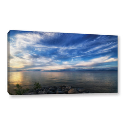 Brushstone Glowing Lakeview Gallery Wrapped Canvas