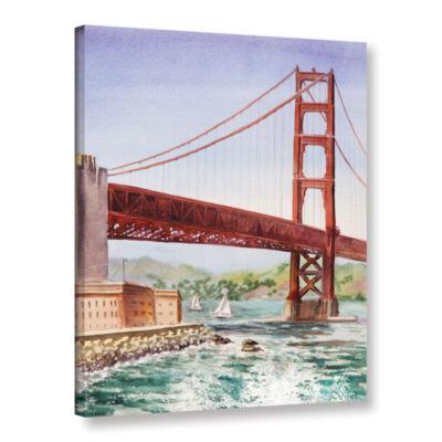 Brushstone Golden Gate Bridge 3 Gallery Wrapped Canvas