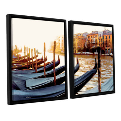 Brushstone Gondolas of Venice 2-pc. Floater FramedCanvas Set