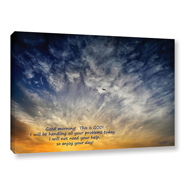 Brushstone God Gallery Wrapped Canvas