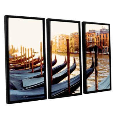 Brushstone Gondolas of Venice 3-pc. Floater FramedCanvas Set