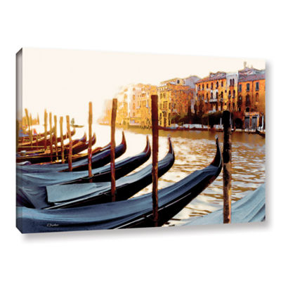 Brushstone Gondolas of Venice Gallery Wrapped Canvas