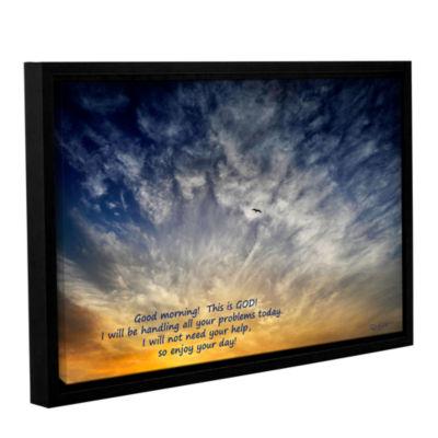 Brushstone God Gallery Wrapped Floater-Framed Canvas