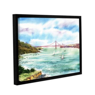 Brushstone Golden Gate Bridge Point Bonita GalleryWrapped Floater-Framed Canvas
