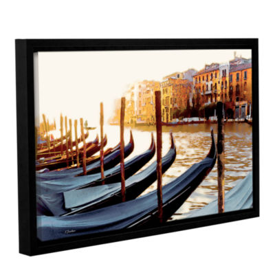 Brushstone Gondolas of Venice Gallery Wrapped Floater-Framed Canvas