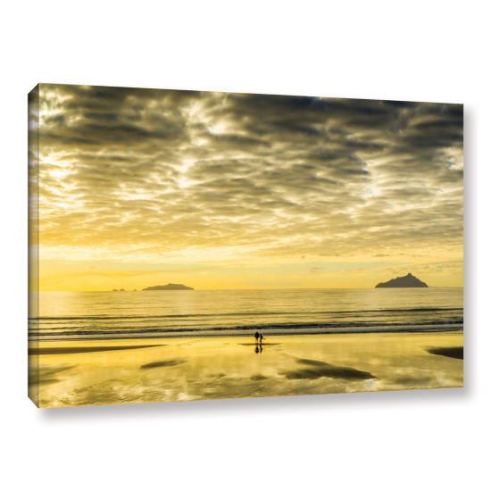 Brushstone Golden Morning Gallery Wrapped Canvas
