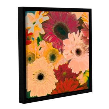 Brushstone Gerbera Cluster Gallery Wrapped Floater-Framed Canvas