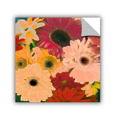 Brushstone Gerbera Cluster Removable Wall Decal