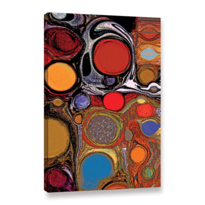 Brushstone Glass Bubbles 1 Gallery Wrapped Canvas