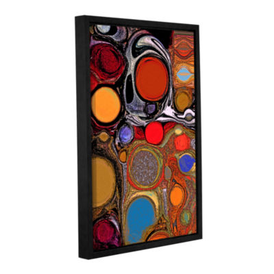 Brushstone Glass Bubbles 1 Gallery Wrapped Floater-Framed Canvas