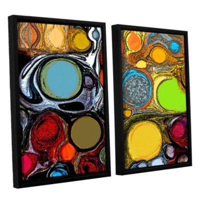 Brushstone Glass Bubbles 2 2-pc. Floater Framed Canvas Set
