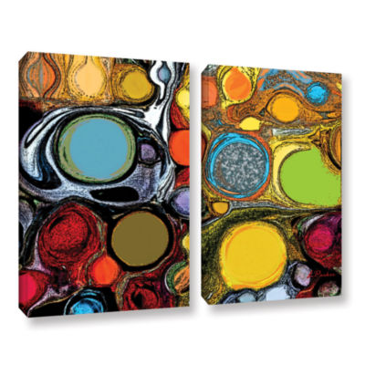 Brushstone Glass Bubbles 2 2-pc. Gallery Wrapped Canvas Set