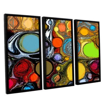 Brushstone Glass Bubbles 2 3-pc. Floater Framed Canvas Set