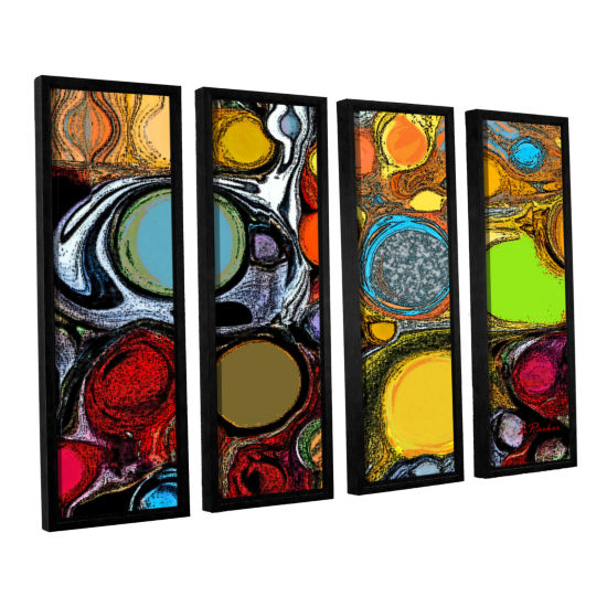 Brushstone Glass Bubbles 2 4-pc. Floater Framed Canvas Set