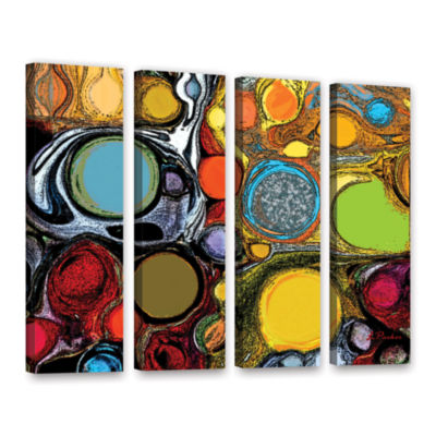 Brushstone Glass Bubbles 2 4-pc. Gallery Wrapped Canvas Set