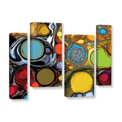 Brushstone Glass Bubbles 2 4-pc. Gallery Wrapped Canvas Staggered Set