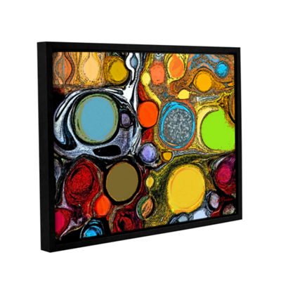 Brushstone Glass Bubbles 2 Gallery Wrapped Floater-Framed Canvas