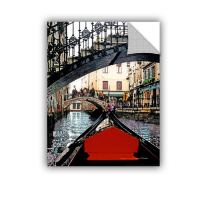 Brushstone Gondola Under Bridge Removable Wall Decal