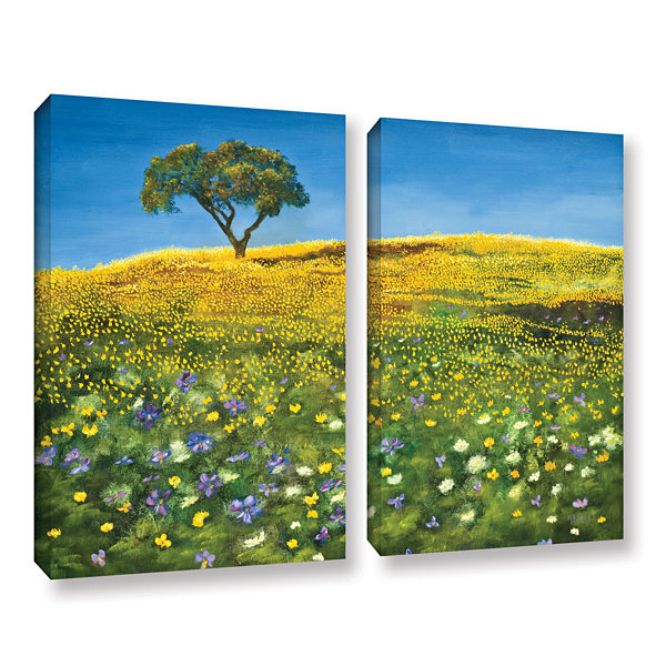 Brushstone Golden Meadow 2-pc. Gallery Wrapped Canvas Set