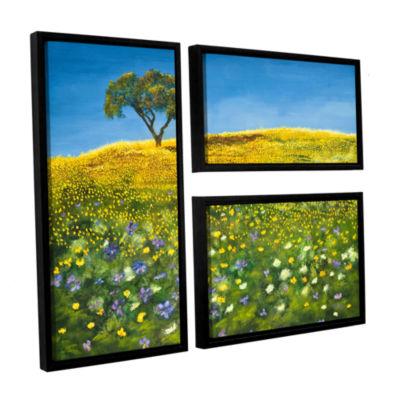 Brushstone Golden Meadow 3-pc. Floater Framed Canvas Flag Set