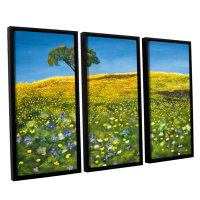 Brushstone Golden Meadow 3-pc. Floater Framed Canvas Set