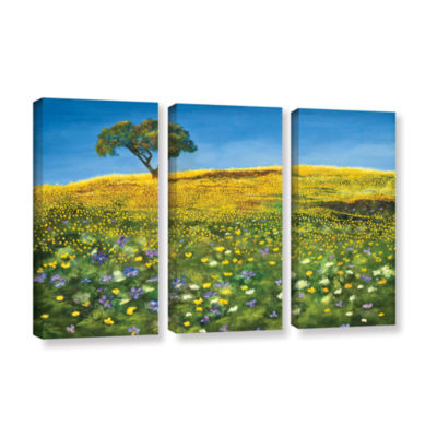 Brushstone Golden Meadow 3-pc. Gallery Wrapped Canvas Set