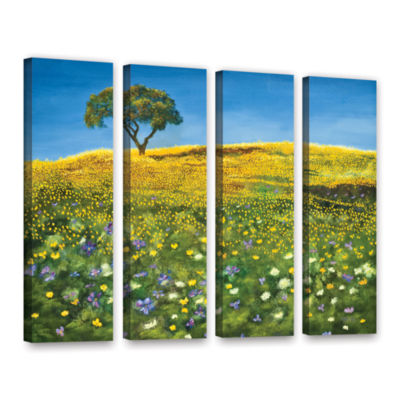 Brushstone Golden Meadow 4-pc. Gallery Wrapped Canvas Set