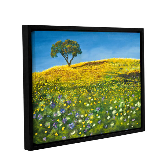 Brushstone Golden Meadow Gallery Wrapped Floater-Framed Canvas