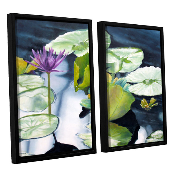 Brushstone From Deep 2-pc. Floater Framed Canvas Set