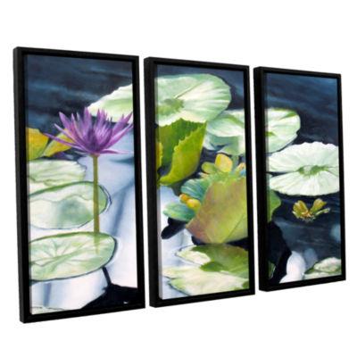 Brushstone From Deep 3-pc. Floater Framed Canvas Set