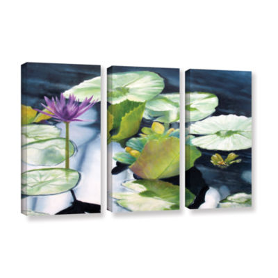 Brushstone From Deep 3-pc. Gallery Wrapped CanvasSet