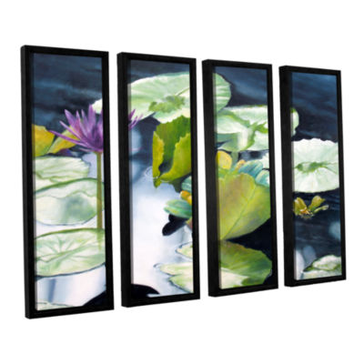 Brushstone From Deep 4-pc. Floater Framed Canvas Set