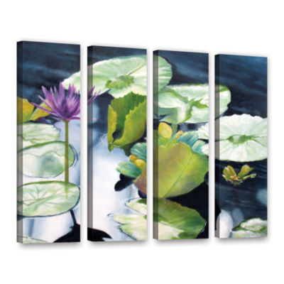 Brushstone From Deep 4-pc. Gallery Wrapped CanvasSet