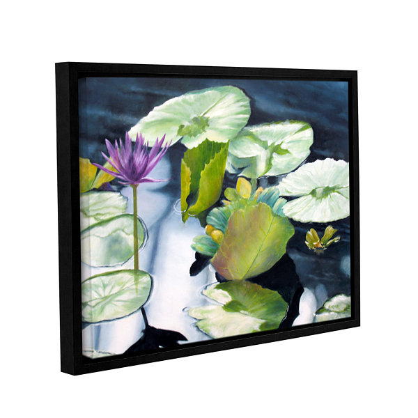 Brushstone From Deep Gallery Wrapped Floater-Framed Canvas
