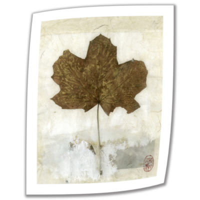Brushstone Golden Leaf Canvas Wall Art