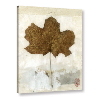 Brushstone Golden Leaf Gallery Wrapped Canvas