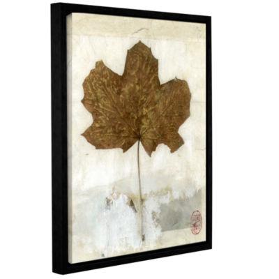 Brushstone Golden Leaf Gallery Wrapped Floater-Framed Canvas
