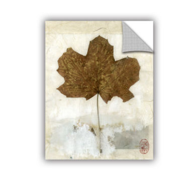 Brushstone Golden Leaf Removable Wall Decal